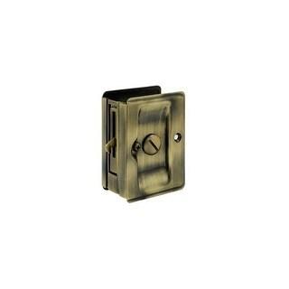 Deltana SDLA325 3-1/4 Inch x 2-1/4 Inch Solid Brass Heavy Duty Adjustable Pocket Door Privacy Lock