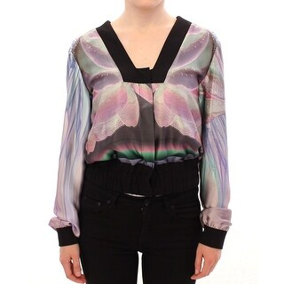 Sergei Grinko Multicolor silk blouse jacket - it40-s