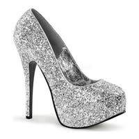 Bordello Women's Teeze 06G High Heel Silver Glitter