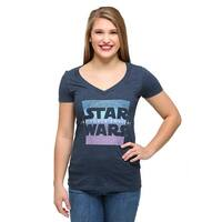 Womens Star Wars Ep 7 Prism Awakens V-Neck T-Shirt