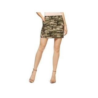 Sanctuary Womens Mini Skirt Denim Camouflage