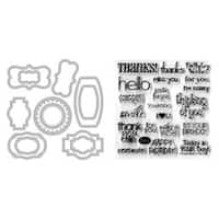 Phrases - Sizzix Framelits Dies 12/Pkg W/Clear Stamps