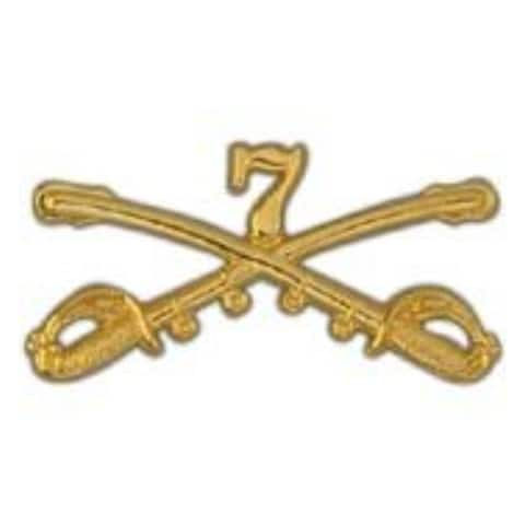 US Army Cavalry Swords 07TH Military Lapel Pin - 2 by 1 inches