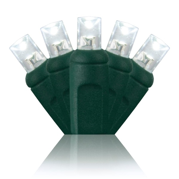 Wintergreen Lighting 69274 70 5mm LED Holiday Lights on Premium Green Wire - Cool White - N/A