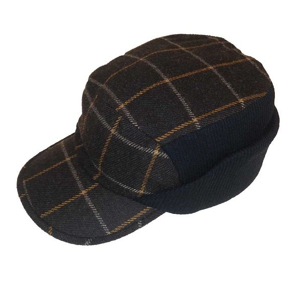 c14ac553a37f2 Shop Dockers Men All Sizer Ribbed Driver Hat Wool Blend Plaid - Free  Shipping On Orders Over  45 - Overstock - 18526551