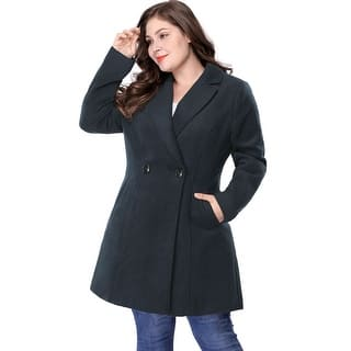 9b724e31979cd Quick View. Was  70.99.  14.20 OFF. Sale  56.79. Women s Plus Size Long  Sleeve Double-breasted Notched Lapel Coat
