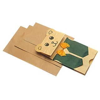 School Smart Flat Bottom Paper Bag, 13 x 6-1/2 x 4 Inches, Brown, Pack of 100