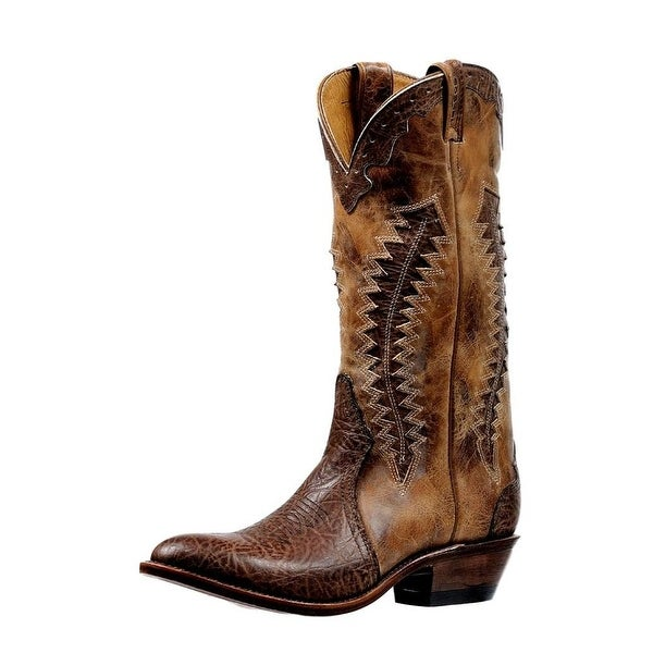 Boulet Western Boots Mens High Cowboy Heel Pull On Taurus Noce