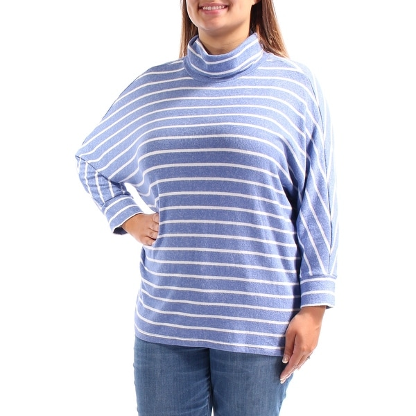 Shop MAISON JULES Womens Light Blue Striped Dolman Sleeve Cowl Neck Sweater  Size  XL - Free Shipping On Orders Over  45 - Overstock.com - 25615433 a2157bfea