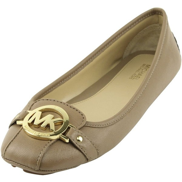 4038c80f0647c MICHAEL Michael Kors Women  x27 s Dark Khaki Fulton Leather Moc Flats (B