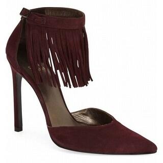 Stuart Weitzman NEW Purple Women's Shoes Size 8M Fringelica Pump