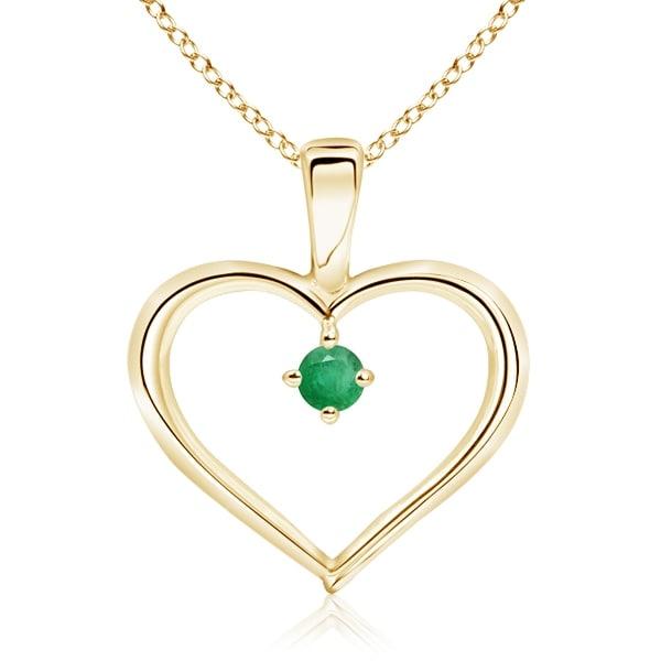 Angara Prong-Set Diamond Open Heart Pendant sS3u58sNN