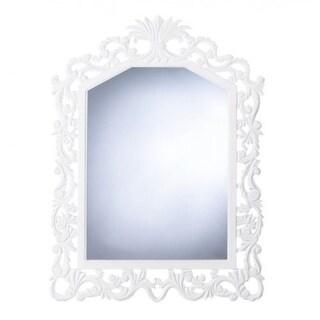 Lavish White Wall Mirror