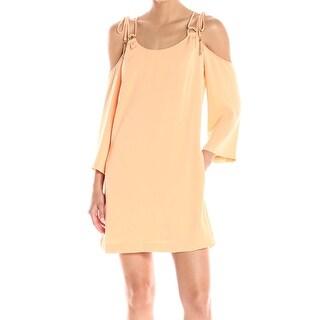 Rachel Rachel Roy Orange Womens Size 0 Cold-Shoulder Shift Dress