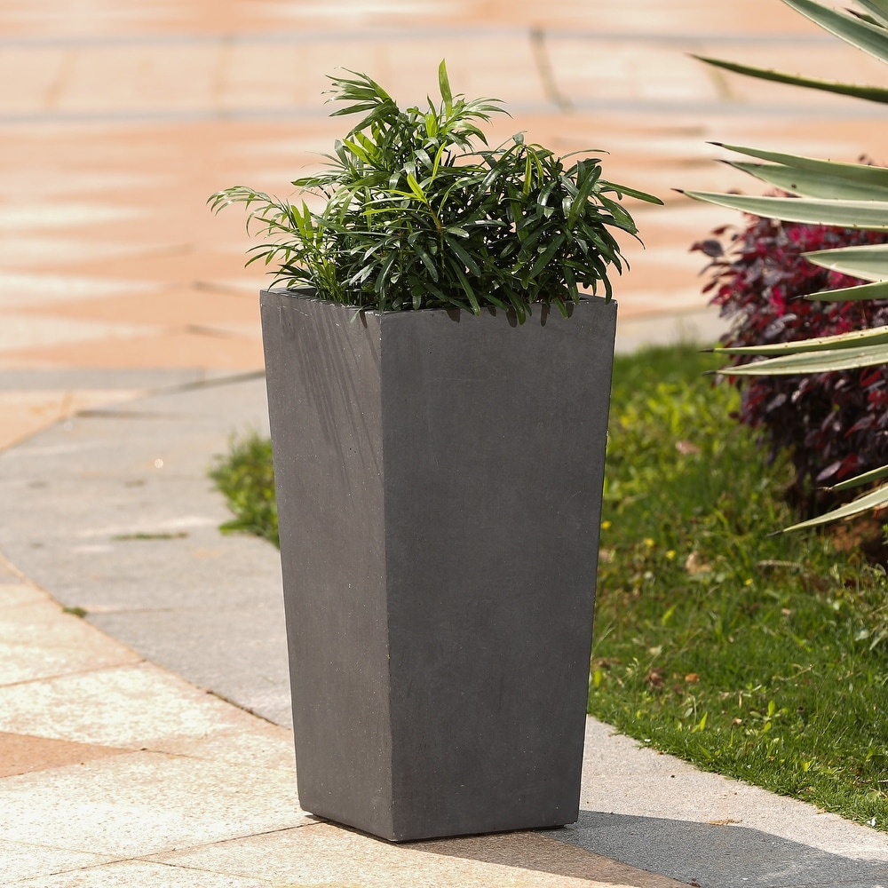 Tapered Stone Finish Tall Planter. Opens flyout.