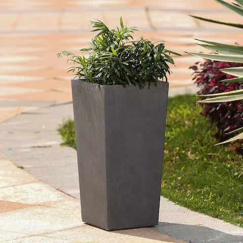 Tapered Stone Finish Tall Planter
