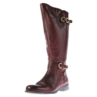 Naturalizer Womens Jennings Leather Riding Knee-High Boots