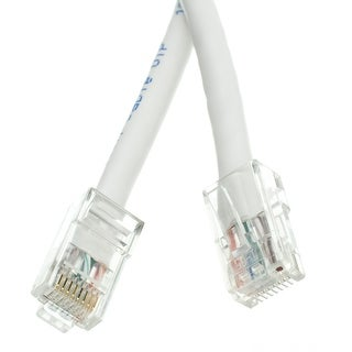 Offex Cat6 White Ethernet Patch Cable, Bootless, 25 foot
