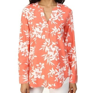 Tommy Bahama NEW Pink Women's Size XS Floral Printed Blouse