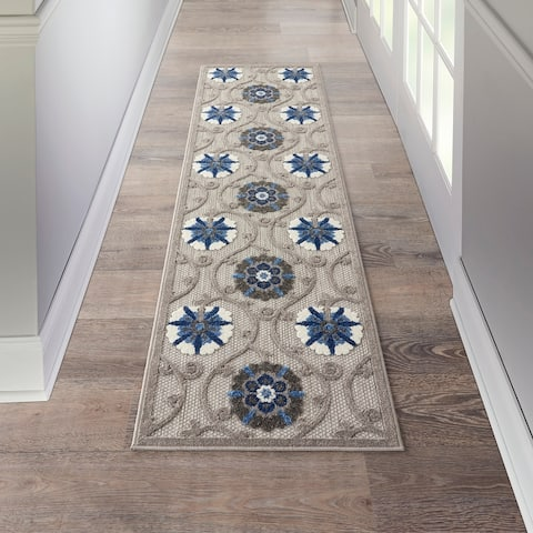 Lanikai Indoor/ Outdoor Contemporary Floral Rug by Havenside Home