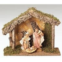 "7.5"" Christmas Nativity Italian Stable #50846 - brown"