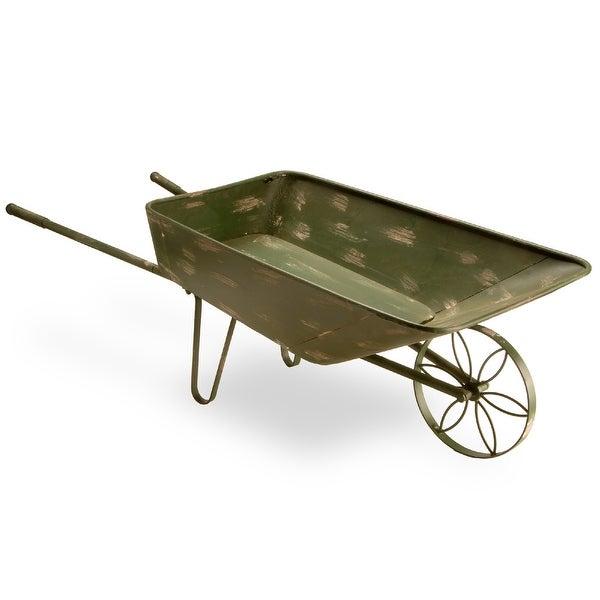 "39"" Garden Accents Rustic Garden Cart- Antique Green - N/A"