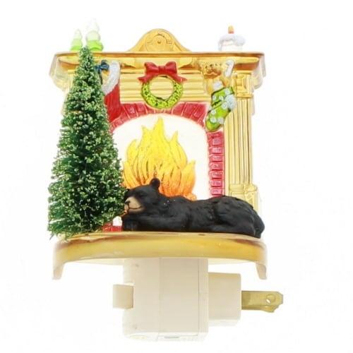 Bear by the Fireplace Night Light