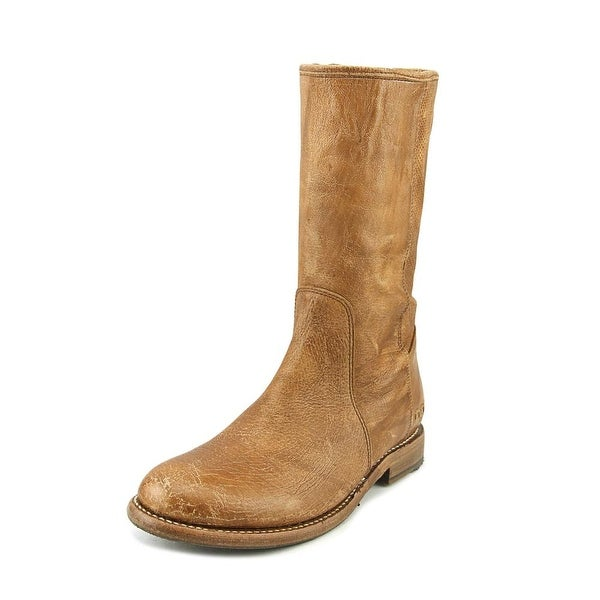 Bed Stu Annette Women Round Toe Leather Tan Mid Calf Boot