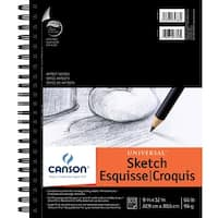 Canson Universal Double Wire Binding Acid-Free Recycled Sketch Pad, 65 lb, 9 X 12 in, 100 Sheets