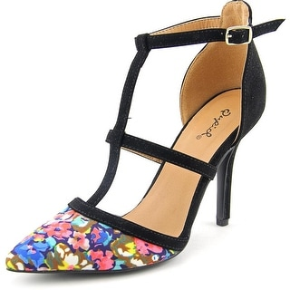 Qupid Mixi Women Pointed Toe Synthetic Heels