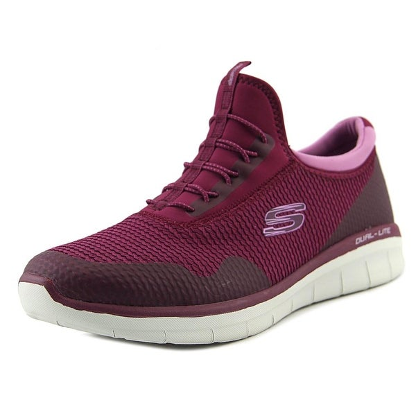 Skechers Synergy 2.0 Mirror Image Women Round Toe Synthetic Purple Sneakers
