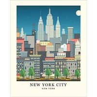 "New York Skyline - Carta Bella Art Print 11""X14"""