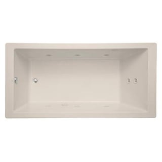 "Mirabelle MIRSKT7236 Sitka 72"" X 36"" Acrylic Total Massage Bathtub for Drop In o - White"