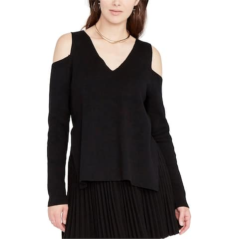 Rachel Roy Womens Cold-Shoulder Pullover Sweater