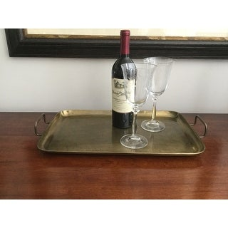 """Tangier"""" Champagne Tone Etched Tray, 19"""" x 10¼"""" x 1"""