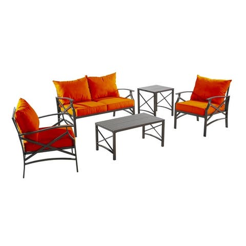 Senwest 5-piece Outdoor Conversation Set with Covers