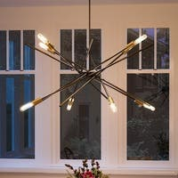 "Luxury Modern Chandelier, 19.625""H x 42.375""W, with Vintage Style, Olde Bronze Finish by Urban Ambiance"
