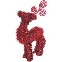"F C Young 14"" Red Tinsel Deer 3D-MMD2 Unit: EACH Contains 5 per case"