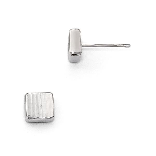 14k White Gold Post Earrings