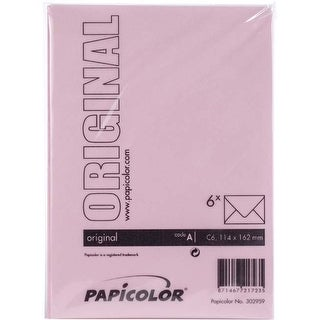 Baby Pink - Papicolor A6 Envelopes 6/Pkg