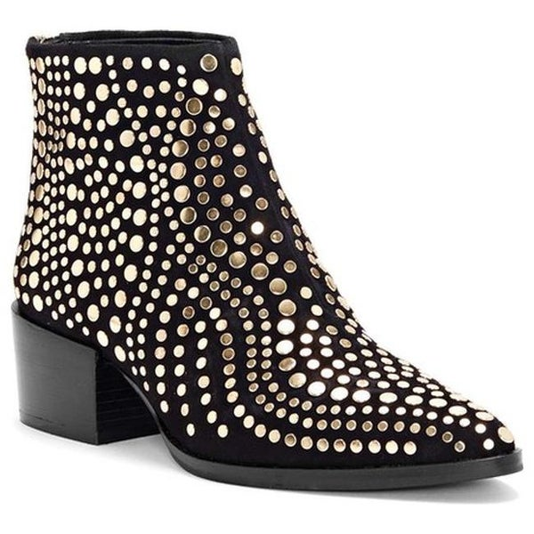 f0c71366a68 Shop Vince Camuto Women's Edenny Studded Bootie Black Luxe True ...