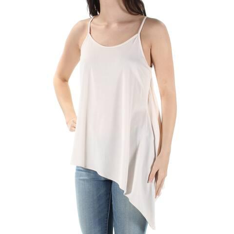 BAR III Womens Pink Sleeveless Jewel Neck HiLo Top Size: XS