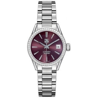 Link to Tag Heuer Women's WAR2418.BA0776 'Carrera' Automatic Stainless Steel Watch Similar Items in Women's Watches