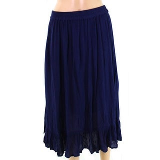 Bobeau Navy Blue Womens Size Medium PM Petite Peasant Boho Skirt