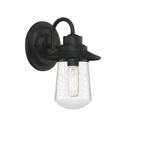 Kecil Matte Black 1-light Outdoor Wall Lantern by Havenside Home