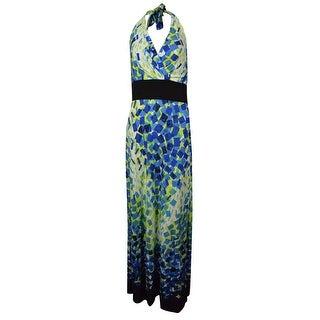 Sangria Women's Printed Halter Maxi Dress