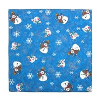 CTM® Women's Snowmen Holiday Christmas Bandana - One size