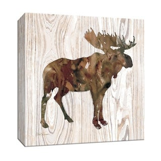 "PTM Images 9-147389  PTM Canvas Collection 12"" x 12"" - ""Pine Forest Moose"" Giclee Moose Art Print on Canvas"