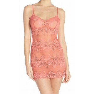 Only Hearts NEW Pink Women's Size Small S Lace Babydoll Chemise
