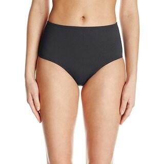 Anne Cole Womens Plus Tummy Control High Waist Bikini Bottom Basic Black 20W